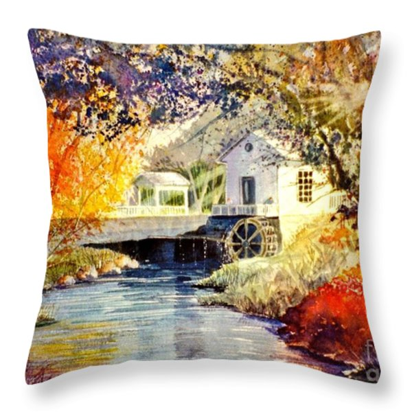 Little Mill Throw Pillow by Marilyn Smith