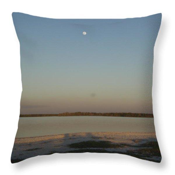 Little Moon Throw Pillow by Robert Nickologianis