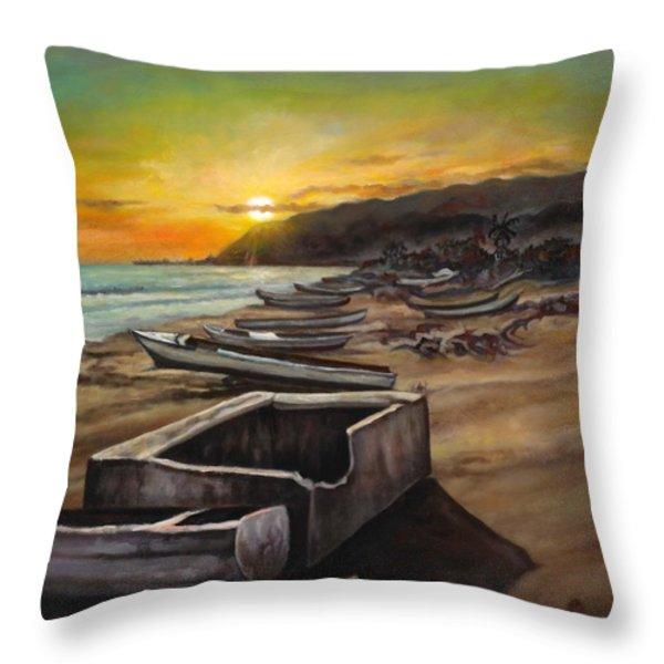 Little Ochie Throw Pillow by Ewan  McAnuff