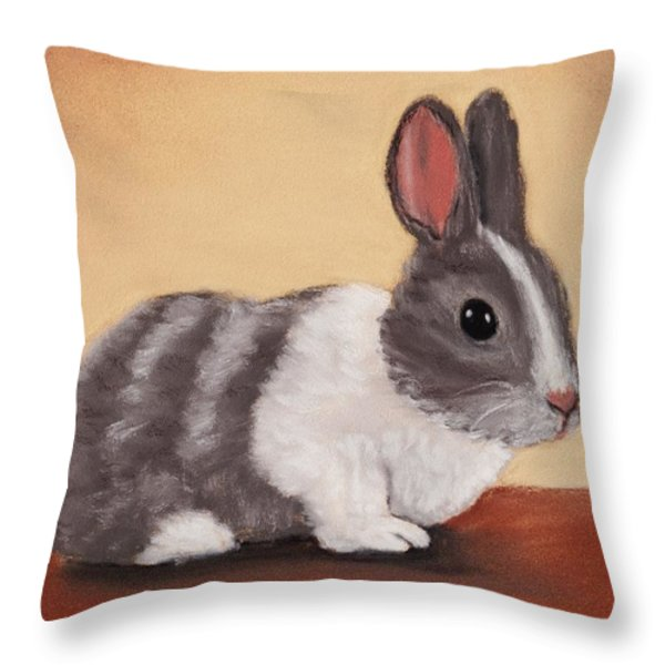 Little One Throw Pillow by Anastasiya Malakhova