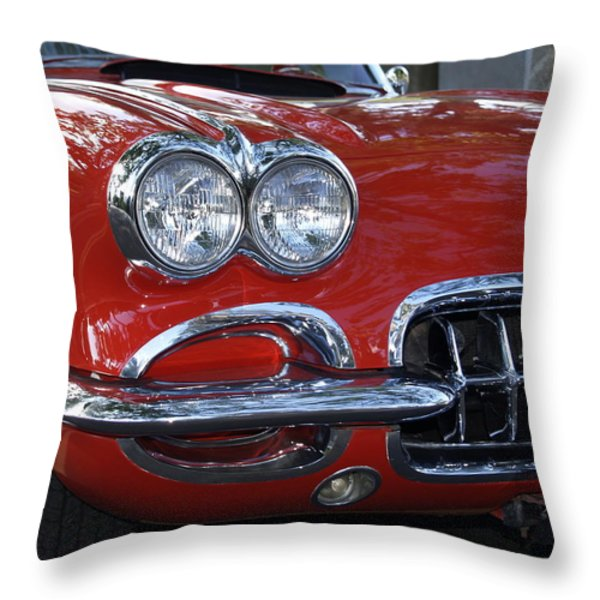 Little Red Corvette Throw Pillow by Bill Gallagher