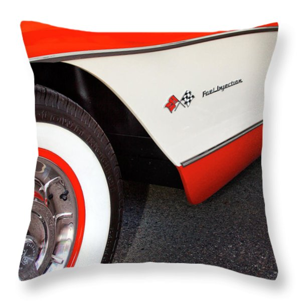 Little Red Corvette Palm Springs Throw Pillow by William Dey