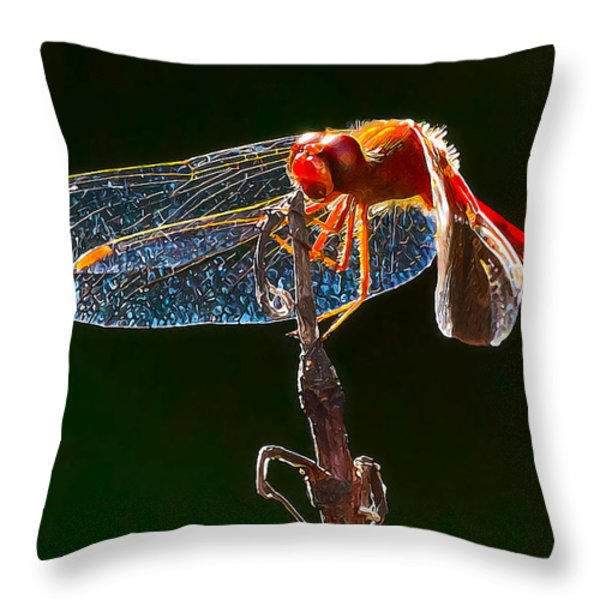 Little Red Dragon 1 Throw Pillow by Bill Caldwell -        ABeautifulSky Photography