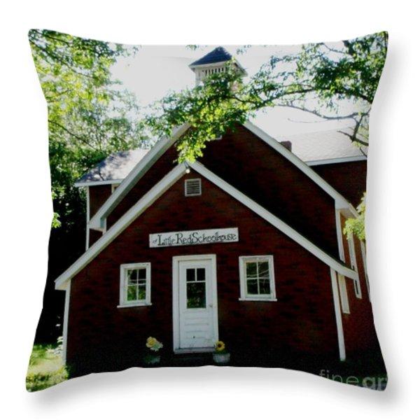Little Red Schoolhouse Throw Pillow by Gail Matthews