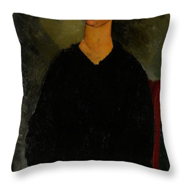 Little Servant Girl Throw Pillow by Amedeo Modigliani