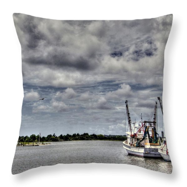 Little Shrimpers   Throw Pillow by Benanne Stiens