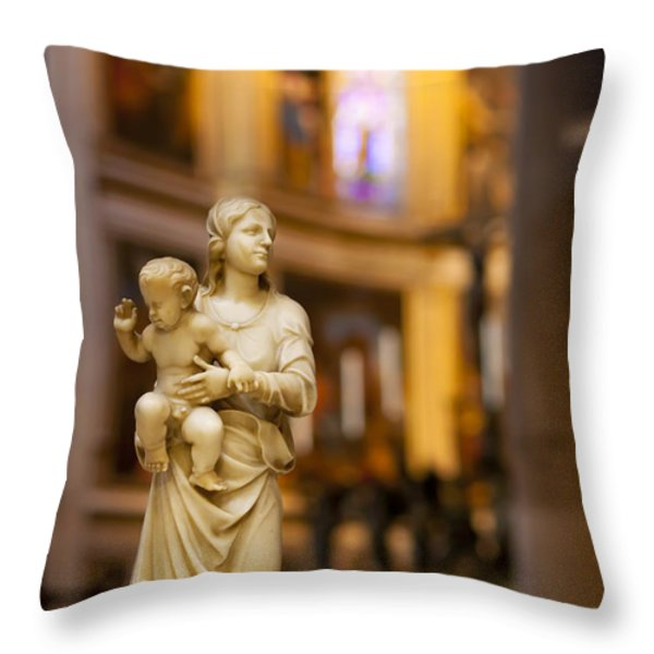 Little Statue Throw Pillow by Brian Jannsen