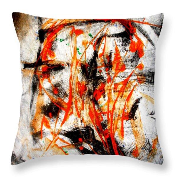Little Swan Head Throw Pillow by David Gatinois