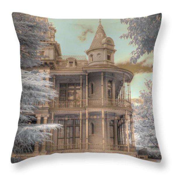 Littlefield mansion Throw Pillow by Jane Linders