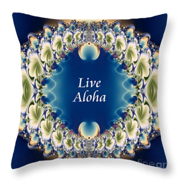 Live Aloha Throw Pillow by Renee Trenholm