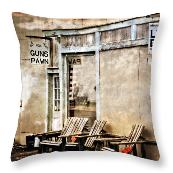 Live Bait Throw Pillow by Marty Koch