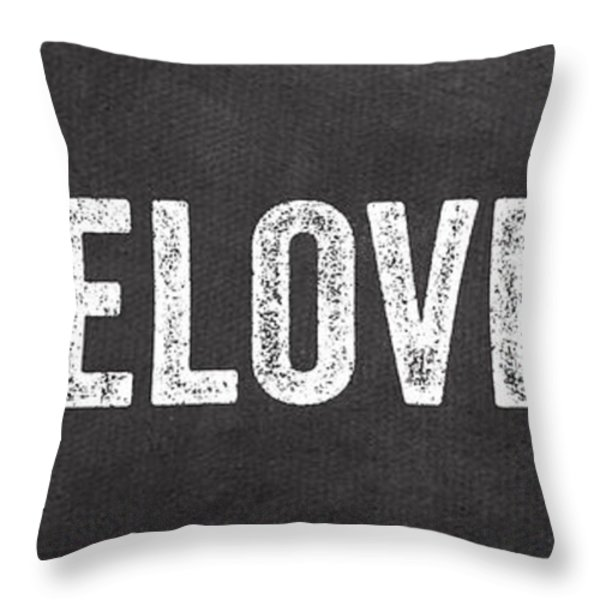 Live Love Eat Throw Pillow by Linda Woods