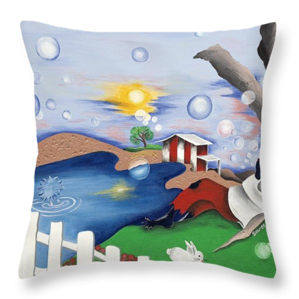 Live Out The Bubble Throw Pillow by Patricia Sabree