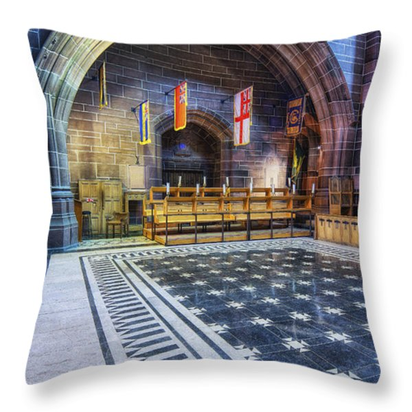 Liverpool Cathedral V2 Throw Pillow by Ian Mitchell
