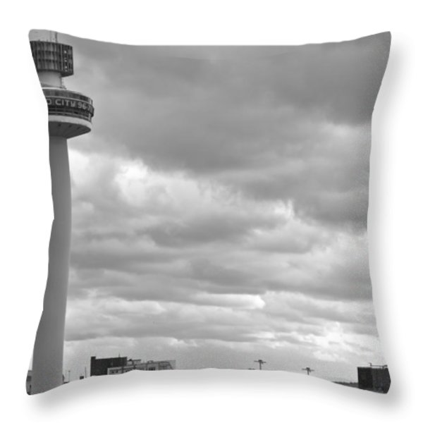 Liverpool Skyline With Radio City Tower Throw Pillow by Nomad Art And  Design