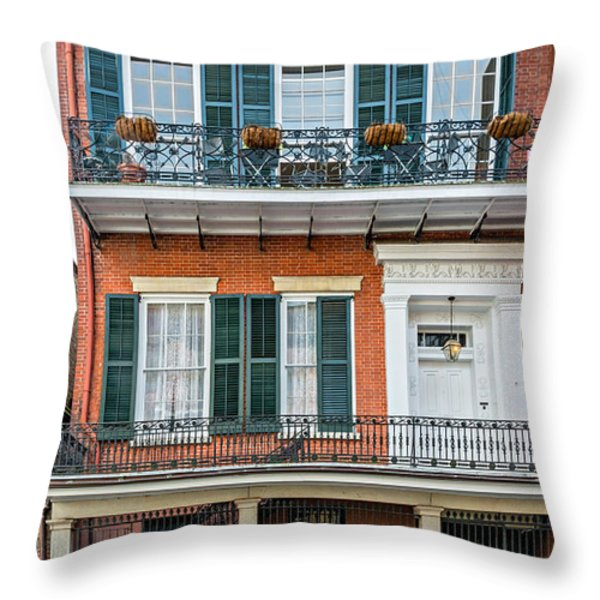 Living High In The French Quarter Throw Pillow by Steve Harrington