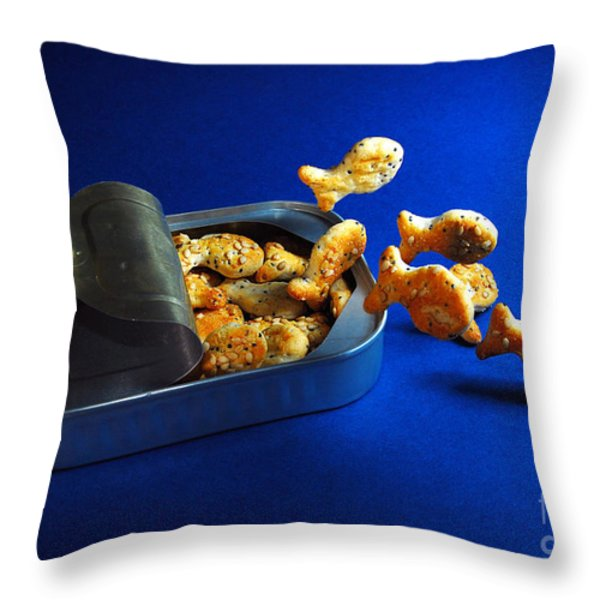 Living In A Can Throw Pillow by Hannes Cmarits