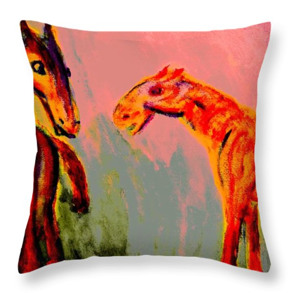 Living in my dreams  Throw Pillow by Hilde Widerberg