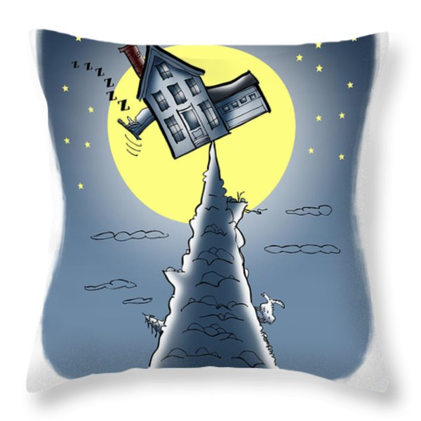 Living On The Edge Throw Pillow by Mark Armstrong