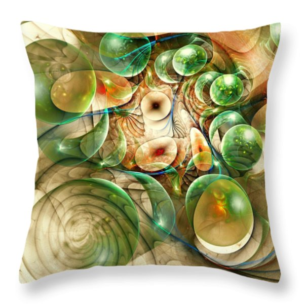 Living Organisms Throw Pillow by Anastasiya Malakhova