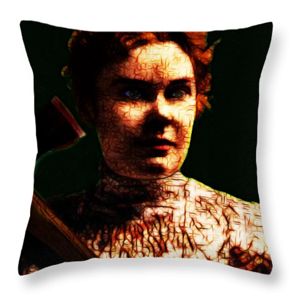 Lizzie Throw Pillow by Wingsdomain Art and Photography