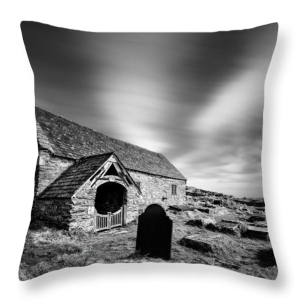Llangelynnin Church Throw Pillow by Dave Bowman