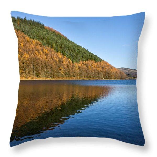 Llyn Geirionydd Throw Pillow by Adrian Evans