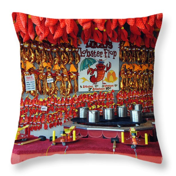 LOBSTER FLOP Throw Pillow by Skip Willits