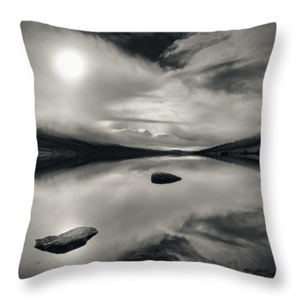 Loch Etive Throw Pillow by Dave Bowman