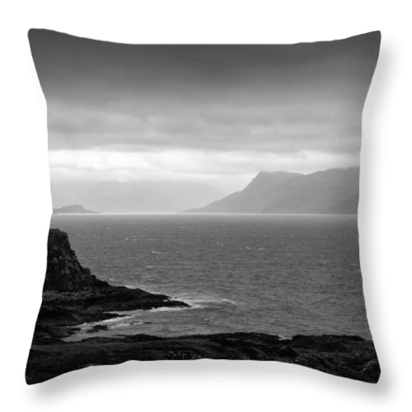 Loch Hoarn Throw Pillow by Dave Bowman