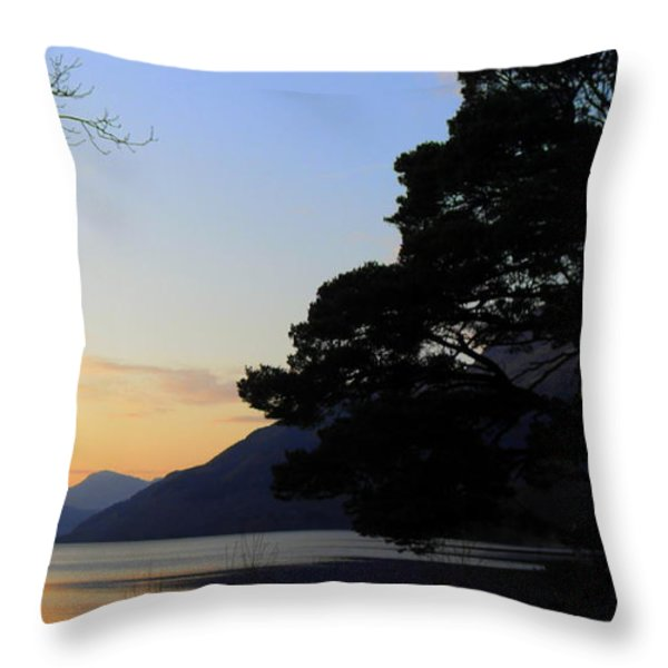 Loch Lomond Sunset Throw Pillow by The Creative Minds Art and Photography