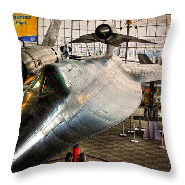 Lockheed M-21 Blackbird Throw Pillow by David Patterson