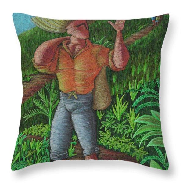 Loco De Contento Throw Pillow by Oscar Ortiz