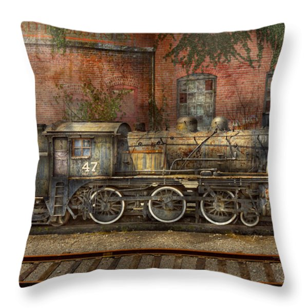 Locomotive - Our old family business Throw Pillow by Mike Savad