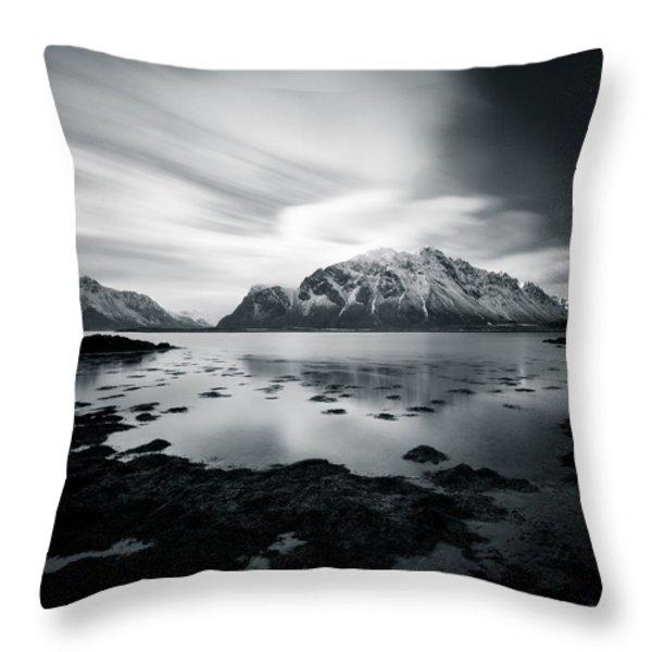 Lofoten Beauty Throw Pillow by Dave Bowman