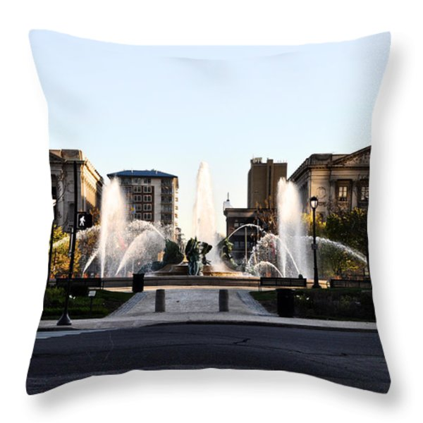 Logan Square Philadelphia Throw Pillow by Bill Cannon