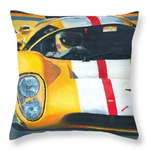 Lola T70 Mkiii/b 1969/1970 Season Cars Sebring Le Mans Throw Pillow by Yuriy Shevchuk