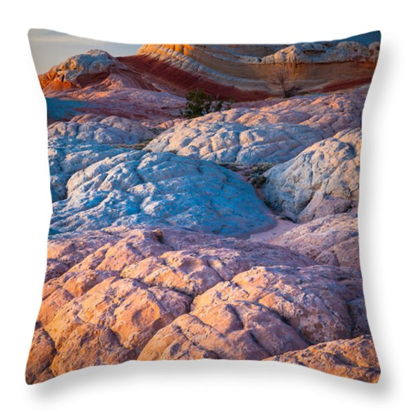 Lollipop Sunset Throw Pillow by Inge Johnsson