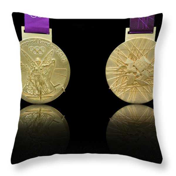 London 2012 Olympics Gold Medal Design Throw Pillow by Matthew Gibson
