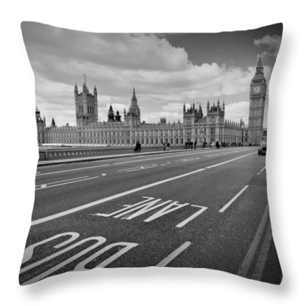 London - Houses of Parliament  Throw Pillow by Melanie Viola