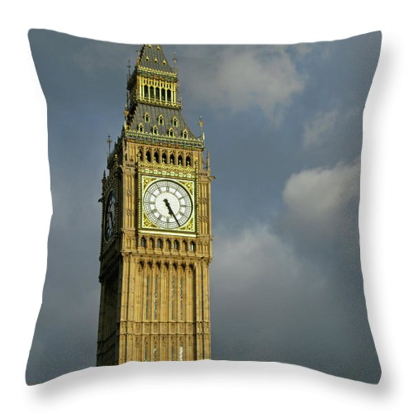 London Icons Throw Pillow by Ann Horn