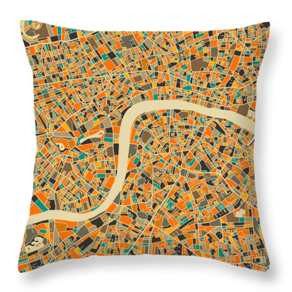 London Throw Pillow by Jazzberry Blue