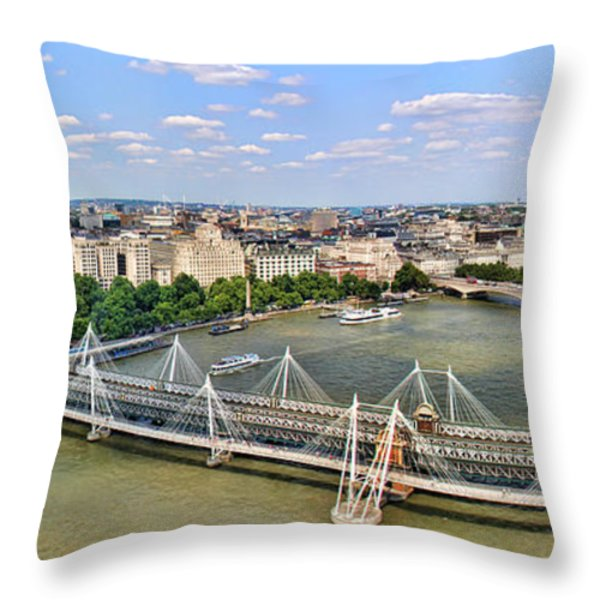 London Panorama Throw Pillow by Mariola Bitner