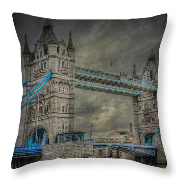 London Tower Bridge Throw Pillow by Erik Brede
