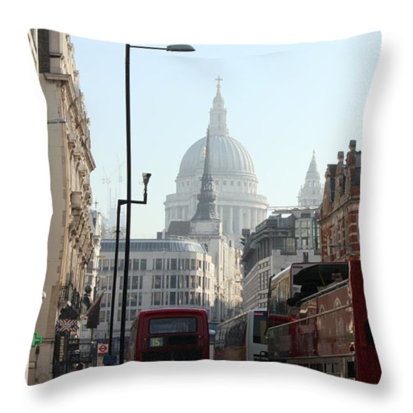 London Town Throw Pillow by Pat Purdy
