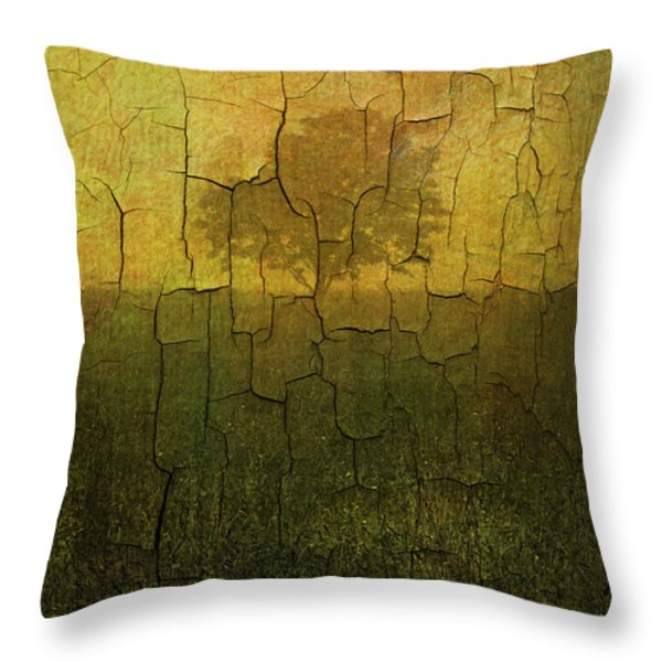 Lone Tree In Meadow -textured Throw Pillow by David Gordon