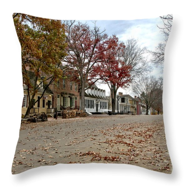 Lonely Colonial Williamsburg Throw Pillow by Olivier Le Queinec