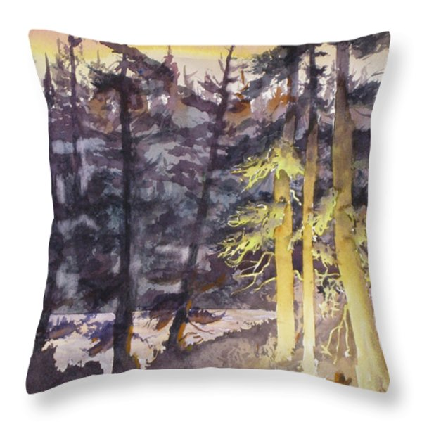 Lonesome Cowboy Throw Pillow by Mohamed Hirji