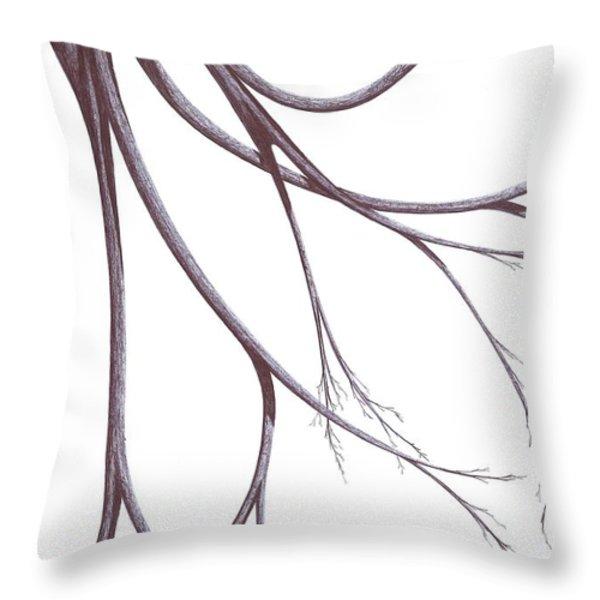Long Branches Throw Pillow by Giuseppe Epifani