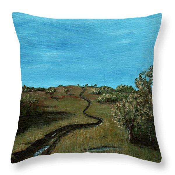 Long Trail Throw Pillow by Anastasiya Malakhova
